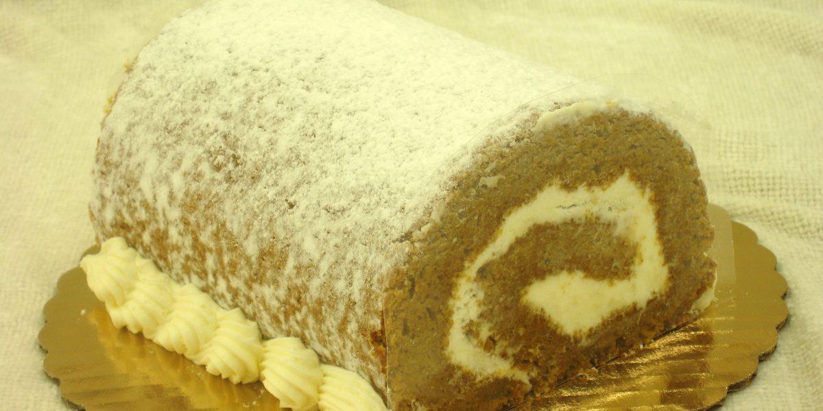 Pumpkin Log Cake