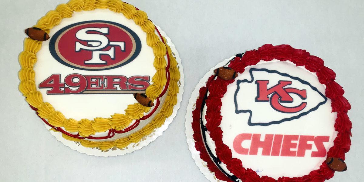 Super Bowl Team Cakes