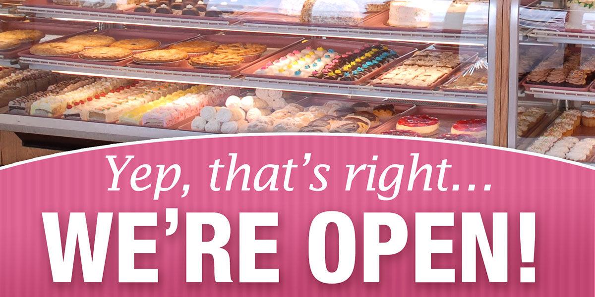 Yep that's right... we're open!
